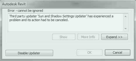 error-revit-sun-shadow-settings-updater
