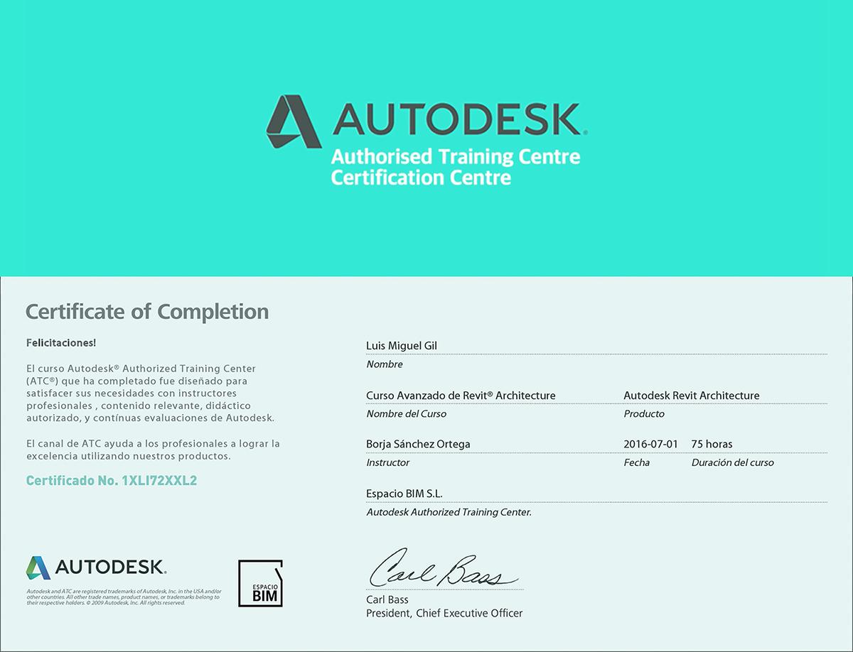 Numero Certificado Autodesk