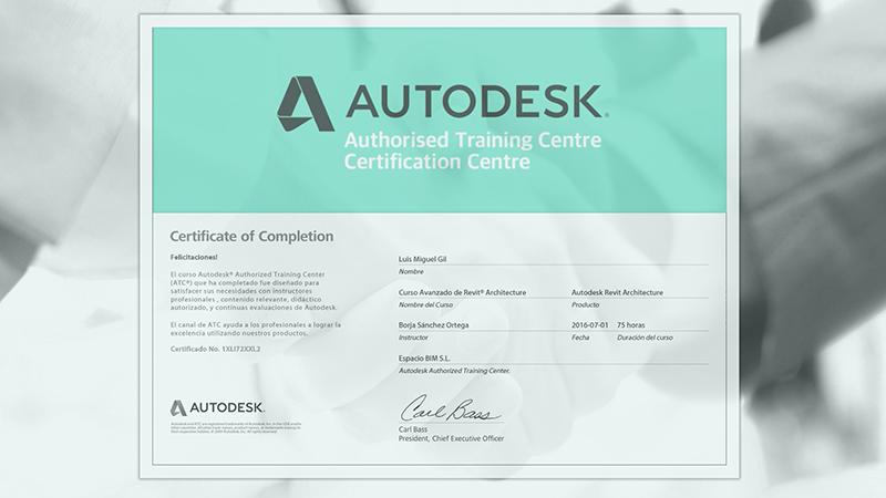 Certificado Autodesk curso online revit