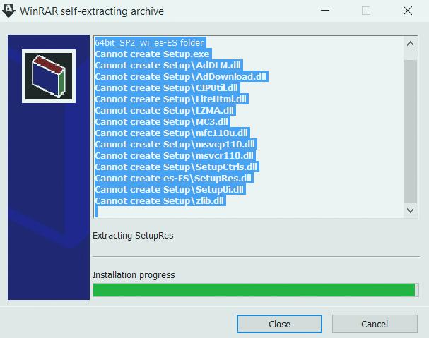 Extraccion de archivos al instalar revit