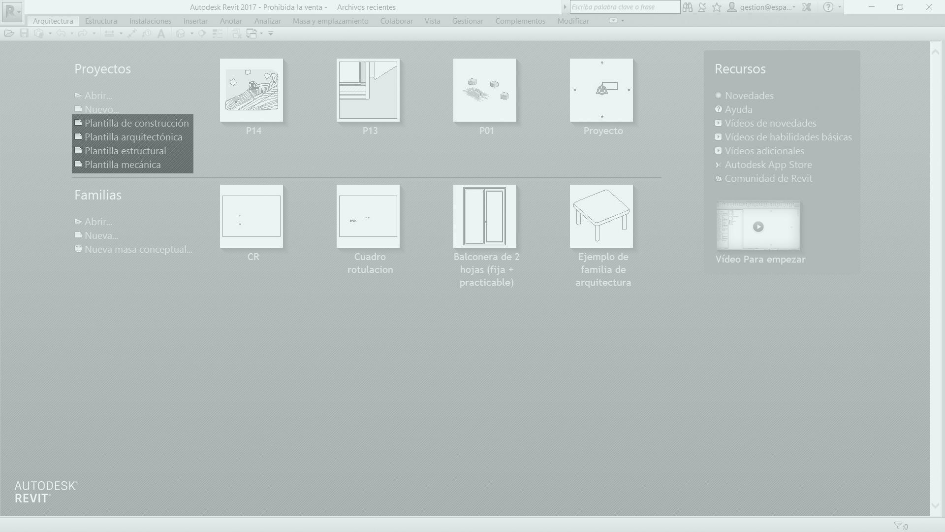 Qué es una Plantilla de Proyecto en Revit® | Espacio BIM