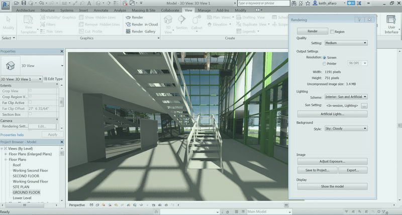 Revit 2017 ha optimizado su motor de renderizado