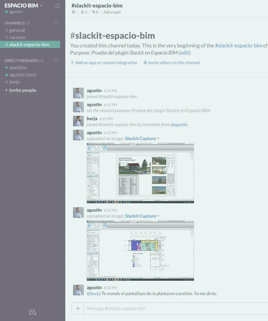 Slackit en Espacio BIM